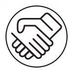 schüttelnde Hände Icon